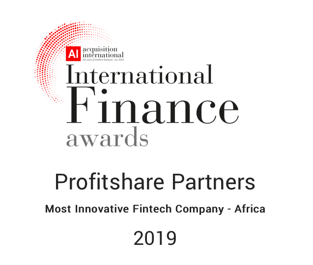 ProfitShare Partners Named Most Innovative FinTech Company in Africa – AI International Finance Awards 2019, ProfitShare Partners