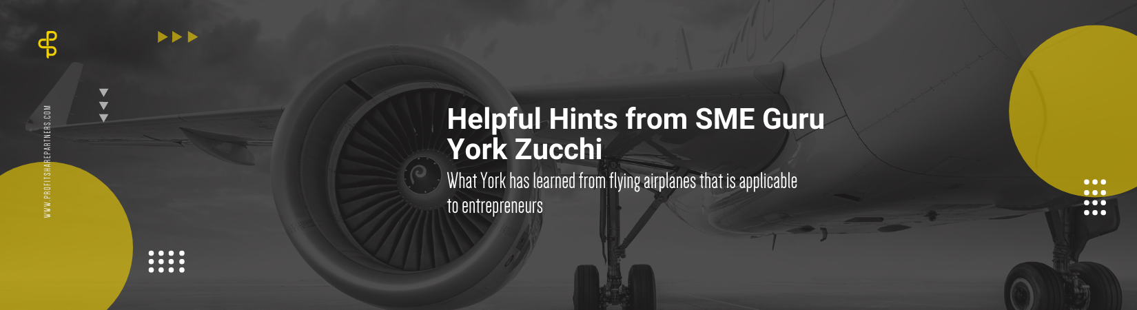 what York has learned from flying airplanes that is applicable to entrepreneurs